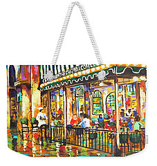 Cafe Du Monde Night Weekender Tote Bag