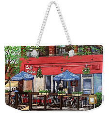 Cafe Frejus Verdun Weekender Tote Bag by Reb Frost