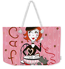 Cafe Girl Weekender Tote Bag
