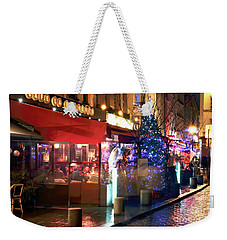Weekender Tote Bag featuring the photograph Cafe La Bucherie by John Rizzuto