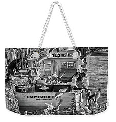 Cafe Lady Catherine Black And White Weekender Tote Bag