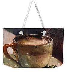 Cafe Love Coffee Painting Weekender Tote Bag
