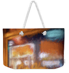 Cafe Window Weekender Tote Bag