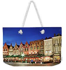 Cafes And Restaurants On Markt Square - Bruges Weekender Tote Bag