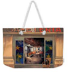 Cafeteria Weekender Tote Bag by Mojo Mendiola