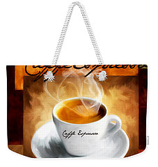 Caffe Espresso Weekender Tote Bag by Lourry Legarde