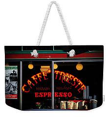 Caffe Trieste Espresso Window Weekender Tote Bag