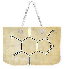 Caffeine Molecular Structure Vintage Weekender Tote Bag