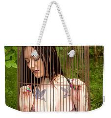 Caged Beauty Weekender Tote Bag