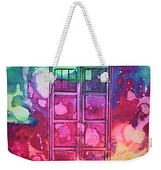 Weekender Tote Bag featuring the drawing Caia's Tardis by Justin Moore