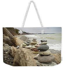 Cairn On The Beach Weekender Tote Bag by Kimberly Mackowski