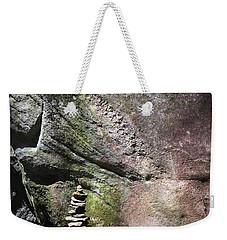 Cairn Rock Stack At Jones Gap State Park Weekender Tote Bag by Kelly Hazel