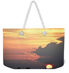 Weekender Tote Bag featuring the photograph Cajun Summer Sunset by John Glass