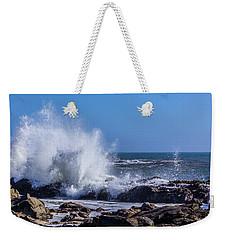 Wave Crashing On California Coast Weekender Tote Bag