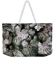 Caladium Leaves Weekender Tote Bag