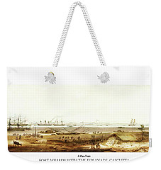 Weekender Tote Bag featuring the digital art Calcutta In 18th Century by Asok Mukhopadhyay