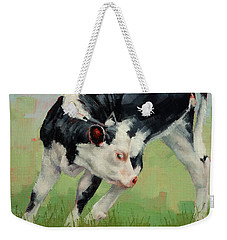 Calf Contortions Weekender Tote Bag by Margaret Stockdale