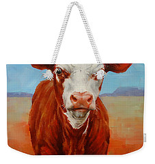 Calf Stare Weekender Tote Bag by Margaret Stockdale