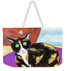 Calico Cat On A Rug  Weekender Tote Bag