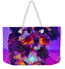Calico Dog Weekender Tote Bag by Jane Schnetlage