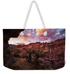 Calico Sunset Weekender Tote Bag