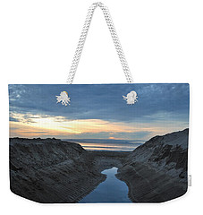 California Beach Stream At Sunset - Alt View Weekender Tote Bag