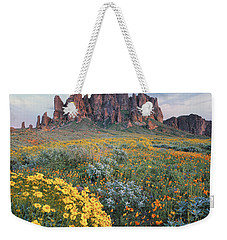 California Brittlebush Lost Dutchman Weekender Tote Bag by Tim Fitzharris