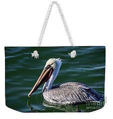 California Brown Pelican In Late Summer Weekender Tote Bag