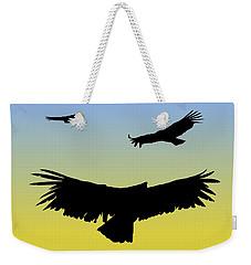 California Condors In Flight Silhouette At Sunrise Weekender Tote Bag