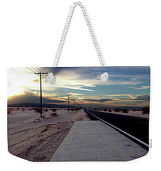 California Desert Highway Weekender Tote Bag