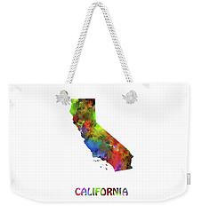 California  Map Watercolor Weekender Tote Bag
