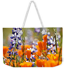 California Poppies And Lupine Weekender Tote Bag