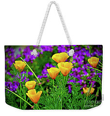 California Poppies Weekender Tote Bag by Michael Cinnamond