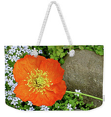 California Poppy Rock Garden Weekender Tote Bag