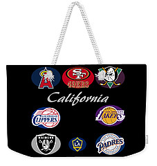 California Professional Sport Teams Collage  Weekender Tote Bag
