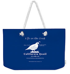 California Quail - White Graphics Weekender Tote Bag