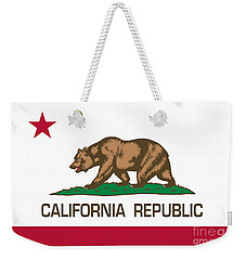 California Republic State Flag Authentic Version Weekender Tote Bag