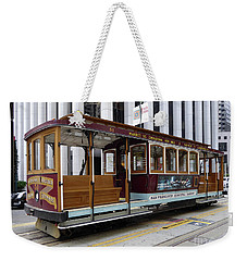 Weekender Tote Bag featuring the photograph California Street Cable Car by Steven Spak
