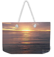 Weekender Tote Bag featuring the photograph California Sunset by Carol  Bradley