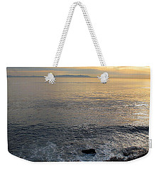 Weekender Tote Bag featuring the photograph California Sunset by Joan  Minchak
