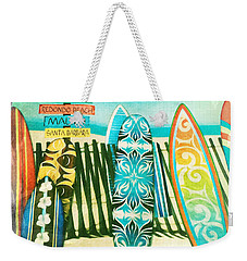 California Surfboards Weekender Tote Bag by Nina Prommer