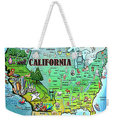 California Usa Weekender Tote Bag