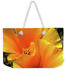 Weekender Tote Bag featuring the photograph Californian Poppy by Baggieoldboy