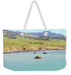 Weekender Tote Bag featuring the photograph California's Central Coast by Art Block Collections