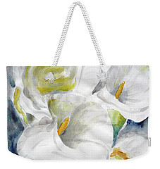 Weekender Tote Bag featuring the painting Calla by Jasna Dragun