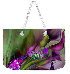 Calla Lilies Weekender Tote Bag by Carol Cavalaris