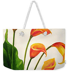 Calla Lilies Weekender Tote Bag by Carol Sweetwood