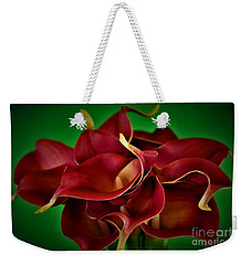Calla Lily Bouquet Weekender Tote Bag by Ray Shrewsberry