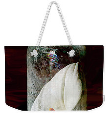 Weekender Tote Bag featuring the photograph Calla Lily In A Bottle by Phyllis Denton