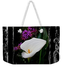 Weekender Tote Bag featuring the photograph Calla Lily Splash by Al Bourassa
